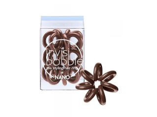 Invisibobble Nano Pretzel Brown, mini hnědá gumička do vlasů
