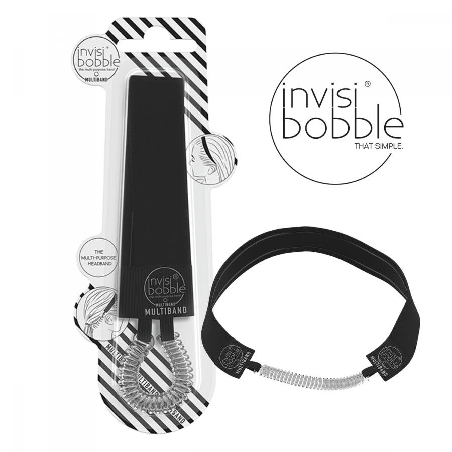 Multifunkční čelenka s gumičkou Invisibobble Multiband - černá ... f173780f78