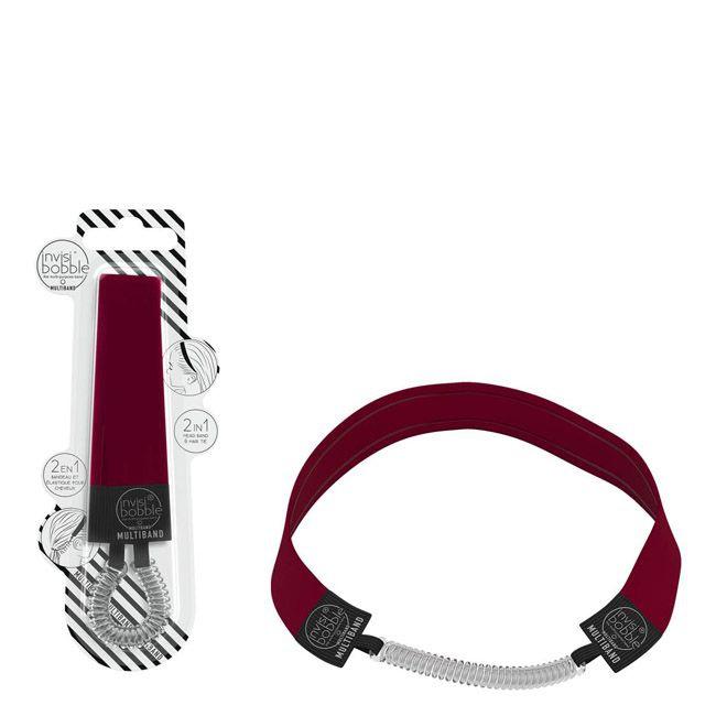 Multifunkční čelenka s gumičkou Invisibobble Multiband - červená ... 0c4508ef33
