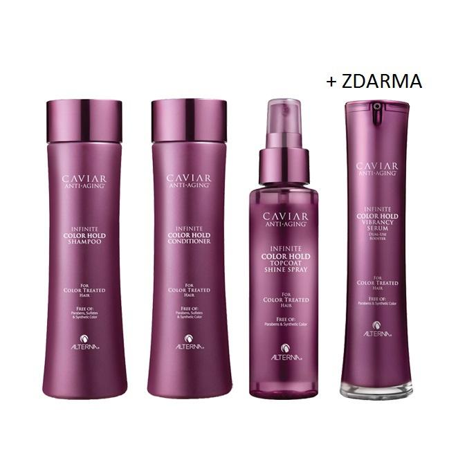 Alterna Caviar Infinite Color SET (šampon + kondicioner + shine spray +  vibrancy serum ZDARMA) ca66ce1df6b
